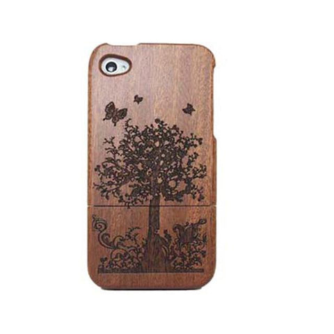 Etched Bamboo Phone Case Covers - Looker Gifts