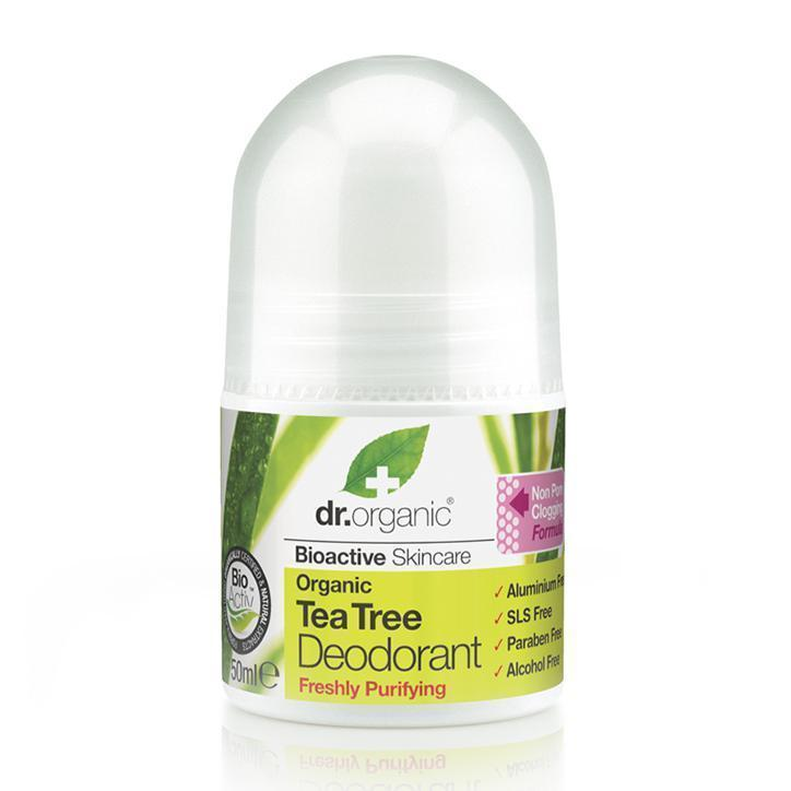 Tea Tree Deodorant 50Ml-Body Care-Dr Organic-BEAUTY ON WHEELS-UAE-Dubai-Abudhabi-KSA-الامارات