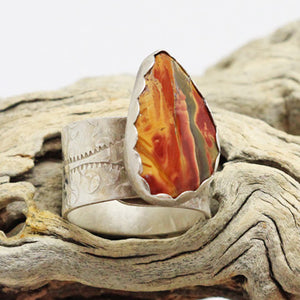 Red creek Jasper Enchanted woodland collection ring