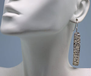 "Sterling 'Dare to Dream Collection' Skinny Earrings 2 1/4"" long"