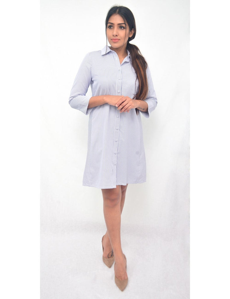 Avirate Striped Shirt Dress