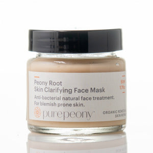 Pure Peony Root Skin Clarifying Face Mask - for acne & blemish prone skin - 50mls glass pot
