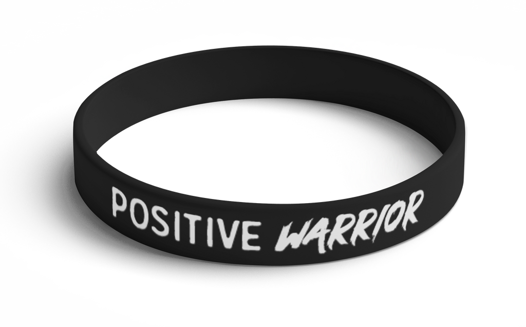Wristband Positive Warrior (Black) 5 Pack
