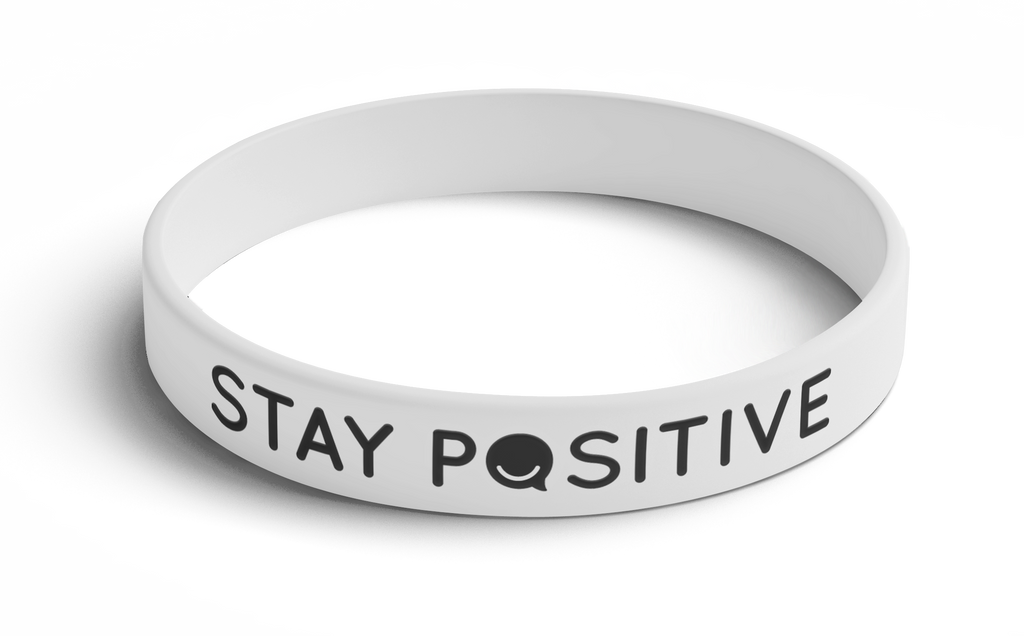 Wristband Stay Positive (White) 5 Pack