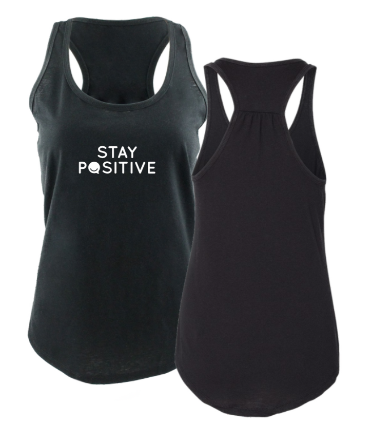 Stay Positive - Women's Tank - Black