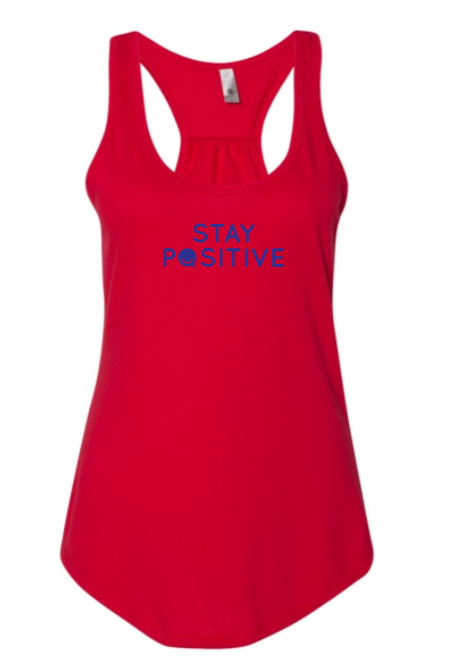 Stay Positive - Women's Tank - Red