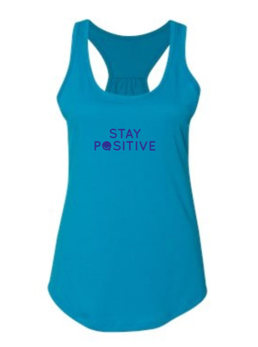 Stay Positive - Women's Tank - Turquoise