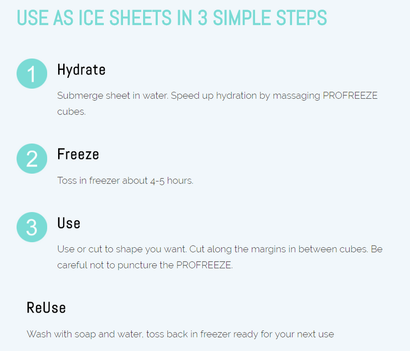 14% OFF Profreeze Ice Sheets