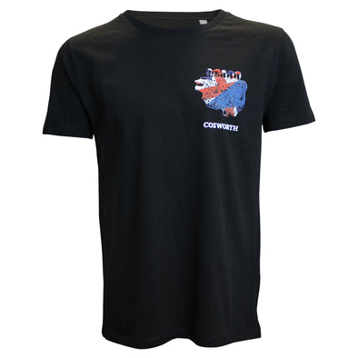 Cosworth Collection Engine Black T-shirt
