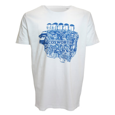 Cosworth Collection Engine White T-shirt 1
