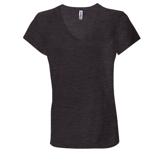 Customizable Bella & Canvas Ladies V-Neck T-Shirt