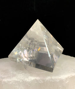 Rainbow Calcite Pyramid