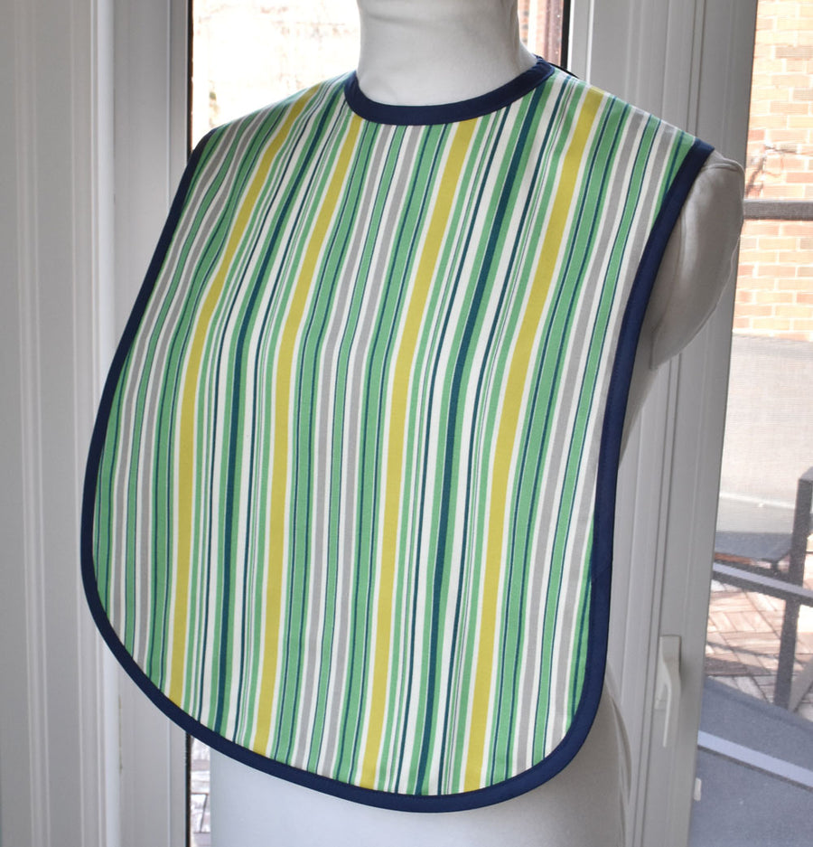 Awning Stripe Reversible Adult Bib