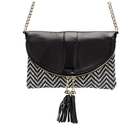 Adira - Leather Crossbody Bag with a Shoulder Chain - AllBags4u