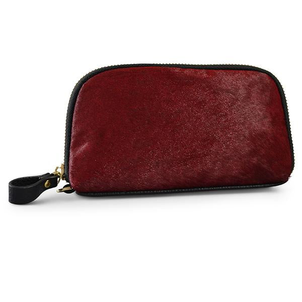 CARMICHAEL- Ladies Red Leather Wristlet - AllBags4u