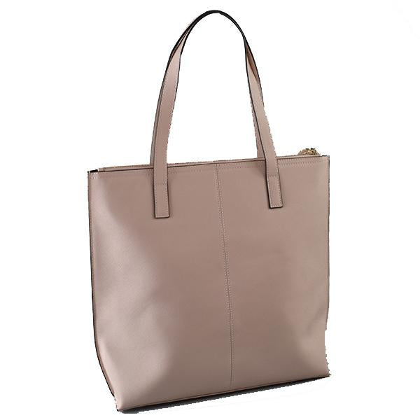 CHERMSIDE - Womens Nude Blush Structured Leather Shopper Tote Bag - AllBags4u