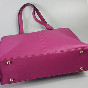CHERMSIDE - Womens Pink Purple Structured Leather Shopper Tote Bag - AllBags4u