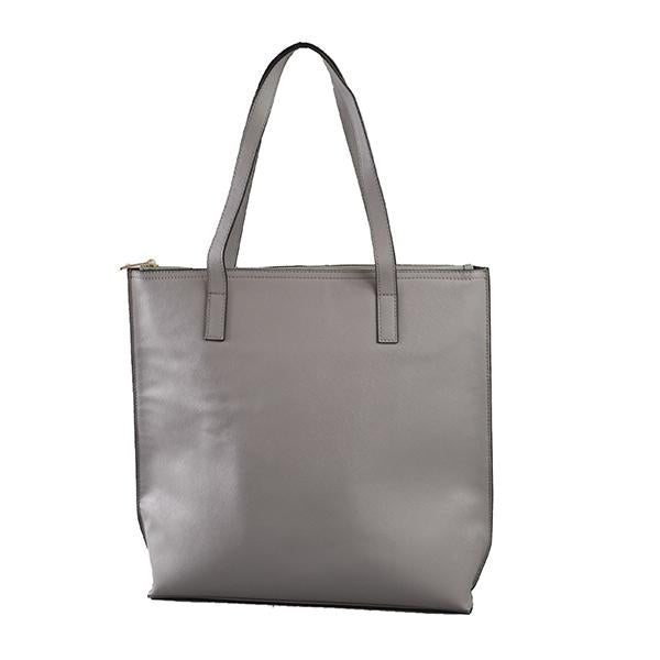 CHERMSIDE - Womens Grey Structured Leather Shopper Tote Bag - AllBags4u