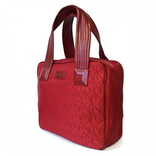Farley - Red Embroidered Lamb Design Overnighter Baby Handbag Tote - AllBags4u