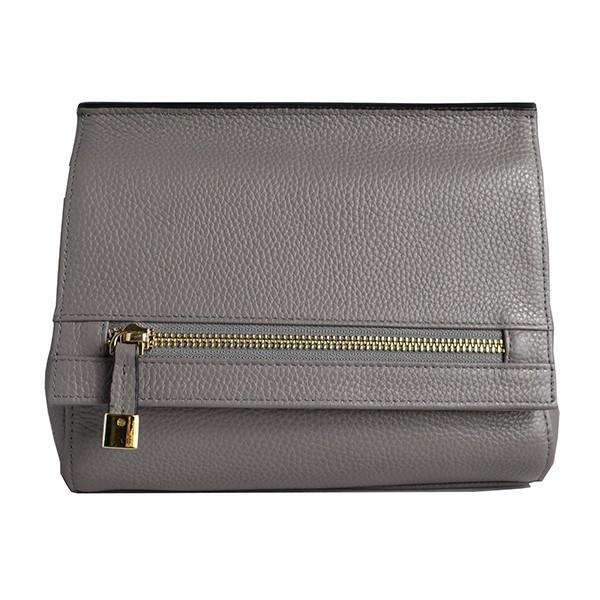HUNTERS HILL-  Womens Grey Leather Crossbody Shoulder Clutch Bag - AllBags4u