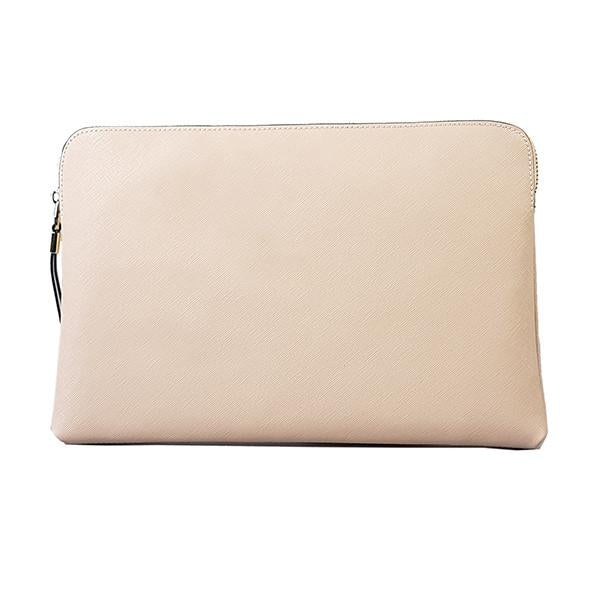 SORRENTO- Ladies Nude Pink Lux Leather Clutch Bag IPad Business Case - AllBags4u