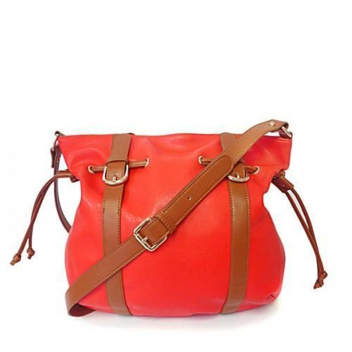 TAMRYN - Womens Orange Faux Leather Bag - AllBags4u