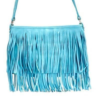 Mosman Womens Mint Boho Tassel Crossbody Bag - AllBags4u