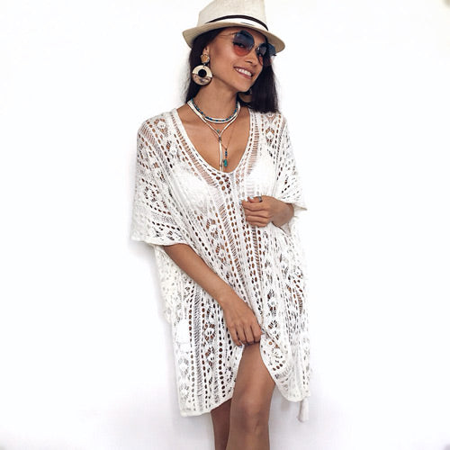 Crochet Beach Cardigan Swimsuit Cover Up