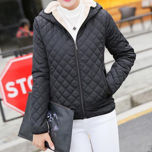 Women Black Bomber Jacket with Hood and Soft Lining
