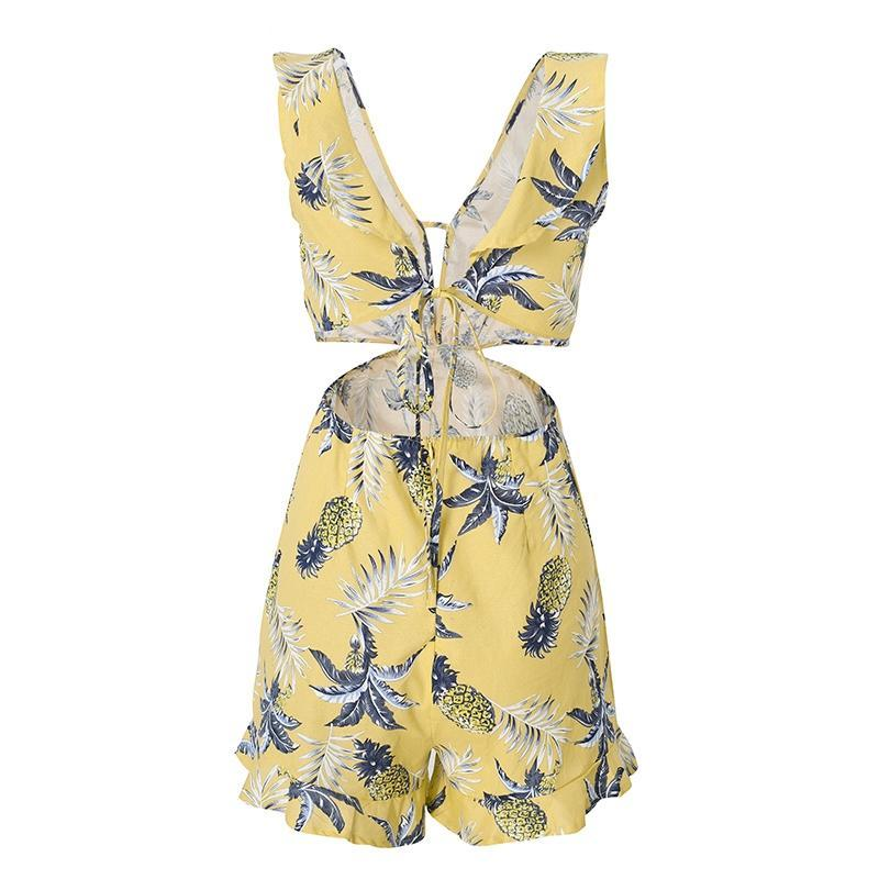 Ruffle Floral Print | Romper Playsuit