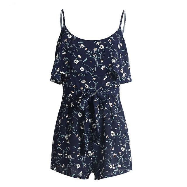 Open Shoulder Ruffle | Romper Playsuit