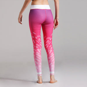 Pink Patterned | High Waist Leggings