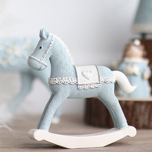 Blue Horse Handmade Craft Toy for Children Roly-poly Gift for  Kids Christmas Decoration Birthday Gift
