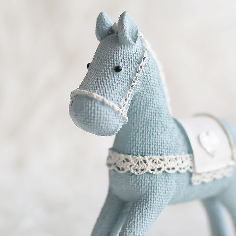 Image of Blue Horse Handmade Craft Toy for Children Roly-poly Gift for  Kids Christmas Decoration Birthday Gift