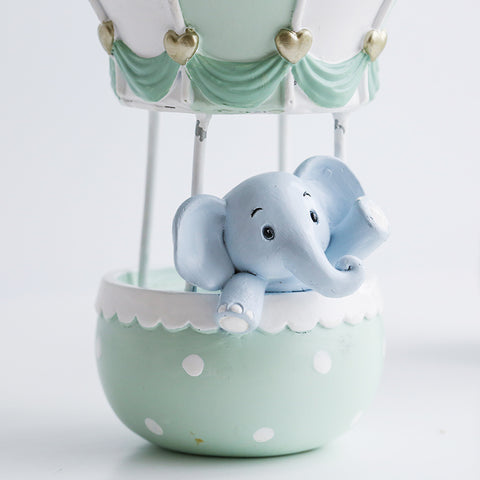 1 Piece Home Decoration Accessory Hot Air Balloon Birthday Gift for Children Animal Figurine Toy for Kids Home Decoration