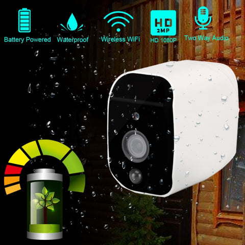 Image of Wire-Free Outdoor Security Camera With Removable Battery Pack