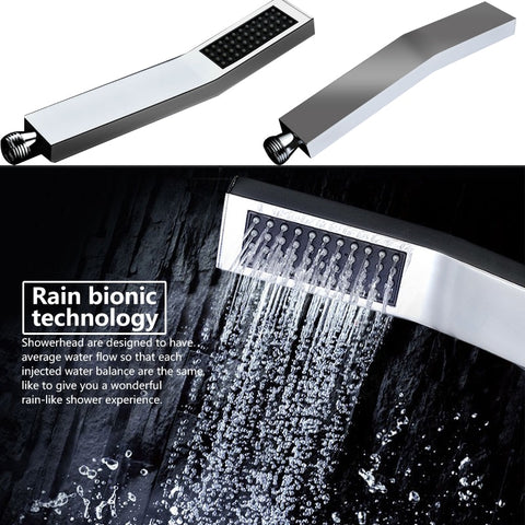 3 Function Digital Shower Faucets Set LED Rainfall Shower Head Waterfall Spout 3 way Digital Mixer Tap Bathroom Shower
