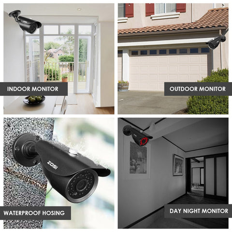 4CH CCTV System 1080p DVR 4PCS 2.0MP IR Weatherproof Outdoor Video Surveillance Home Security Camera System 4CH DVR Kit