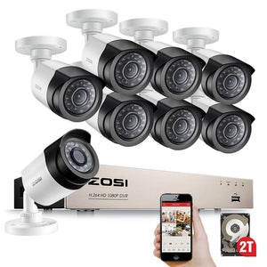 HD-TVI 8CH 1080P Security Cameras System Kit with 8*2.0MP Day Night Vision CCTV Home Security Camera Video Surveillance
