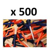 500 x EXTRA LONG 85mm PLASTIC + RUBBER CUSHION GOLF TEES