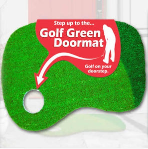 Golf Putting Green Door Mat with Rubber Back