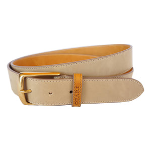 Taupe Leather Belt