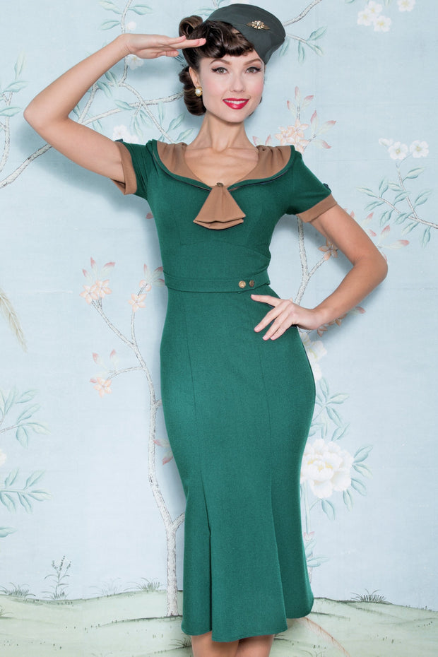 The Army Green Raileen Dress