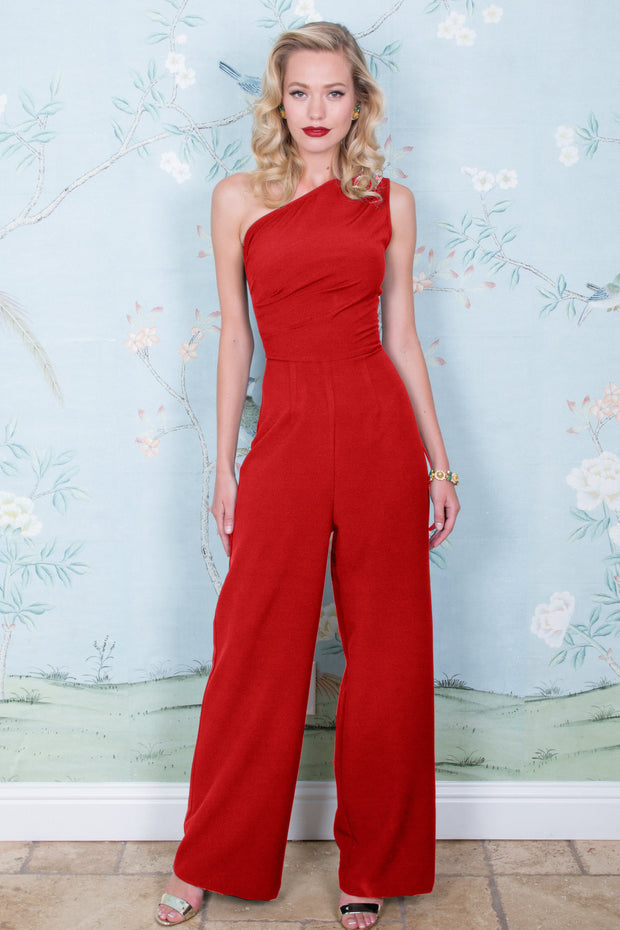 One Shoulder Ava Pantsuit
