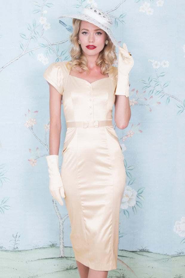 Classy 1940s Inspired Lauree Fitted Dress