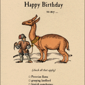 Archelaus Happy Birthday to my... Peruvian Llama | Archelaus | Paperpoint Stationery South Melbourne