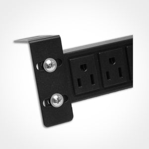 Quest HPS-E12P 19 Inch 12 Outlet Horizontal Power Strip Image 2