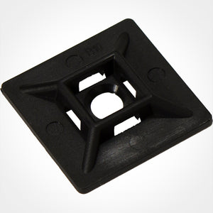 Vertical Cable 045-MB/A/11/BK Adhesive Mounting Base for Cable Ties - 100 Pack, Black