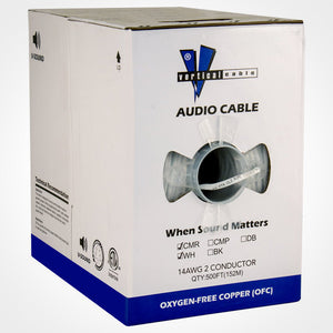 Vertical Cable 209-2320 500ft 14 Gauge In-Wall Speaker Wire
