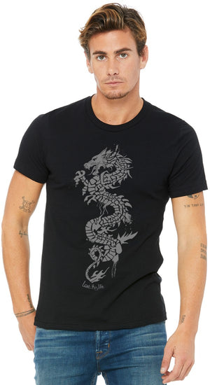 Grey Dragon Black Men's Tee - lovethislife, iamlovethislife, love this life, David Culiner, manifesto, ltl